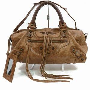 Auth Balenciaga Leather Shoulder Bag #1001O11